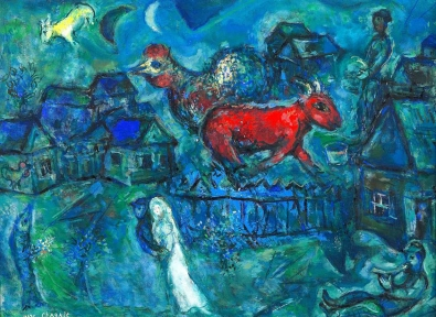 'Maries au Village', Marc Chagall. Bella Rosenfeld, Bella Chagall.