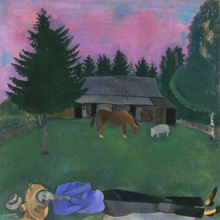 Marc Chagall, 'The Poet Reclining' 1915.