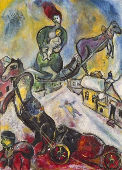 Marc Chagall, The War, 1943, oil on canvas