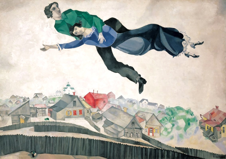 'Over the town', by Marc Chagall 1914-18. Bella Rosenfeld, Bella Chagall.