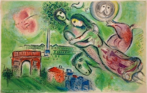 Romeo and Juliet, Lithograph 1964, by Marc Chagall. Bella Rosenfeld, Bella Chagall.
