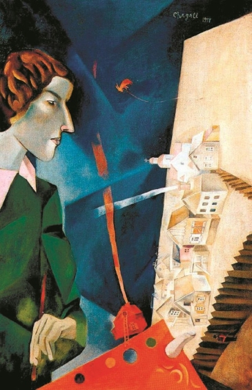 Self portrait with palette, Marc Chagall 1917