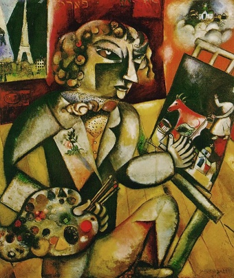 Self Portrait with Seven Fingers, 1913 Marc Chagall.