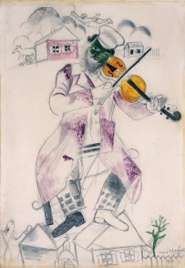 Study for Music (Fourth panel for the State Jewish Chamber Theatre by Marc Chagall.