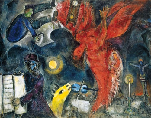 'The Falling Angel', by Marc Chagall 1923-47.
