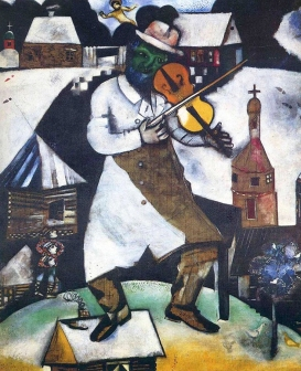 'The Fiddler', 1913, by Marc Chagall.
