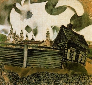 The House in Grey, 1917 by Marc Chagall.