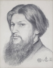 Ford Madox Brown, 1867 by Dante Gabriel Rossetti.
