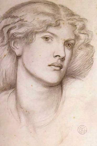 Fanny Cornforth by Rossetti, 1865 Pencil on paper