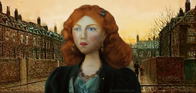 Fanny Cornforth, art muse, soft sculpted figurine.