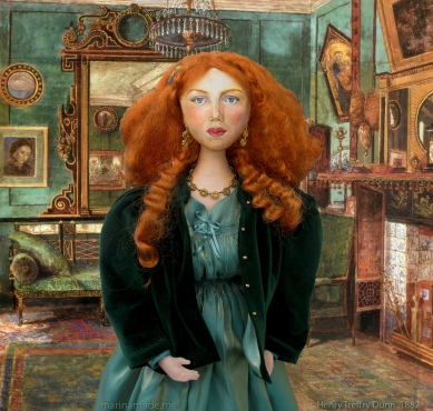 Fanny in Rossetti's drawing room, 1882, by Henry Treffry Dunn.