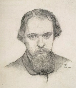 Self Portrait Dante Gabriel Rossetti, pencil on paper, 1861.