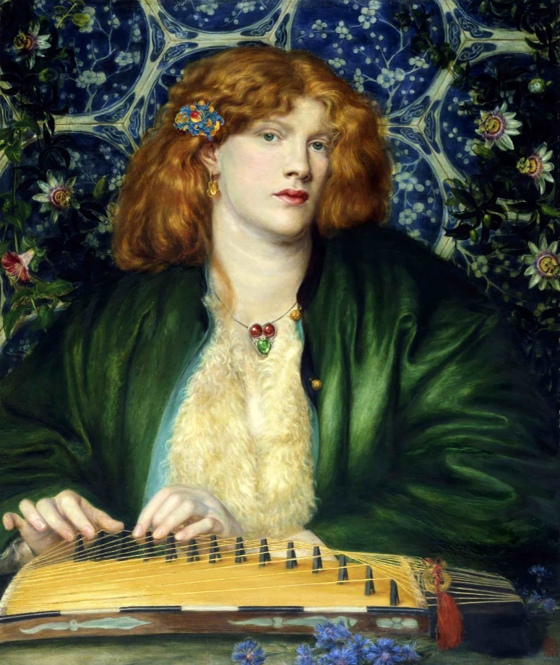 Fanny Cornforth playing the Koto.
