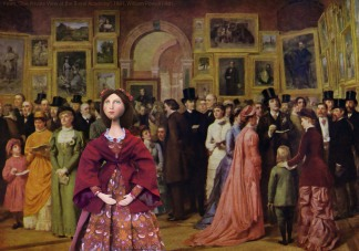 Effie at 'The Private View at the Royal Academy', William Powell Frith, 1881.