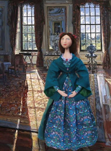 Effie muse as Lady Millais, in a grand reception room at Palace Gate.