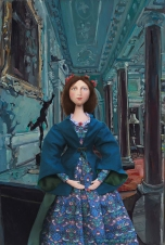 Effie Millais in the reception gallery of her new home in Palace Gate.