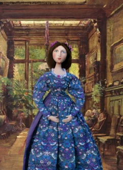 Effie at home in Bowerswell, Perth. 'Interior Overlooking the Garden', by Marie Ducker.