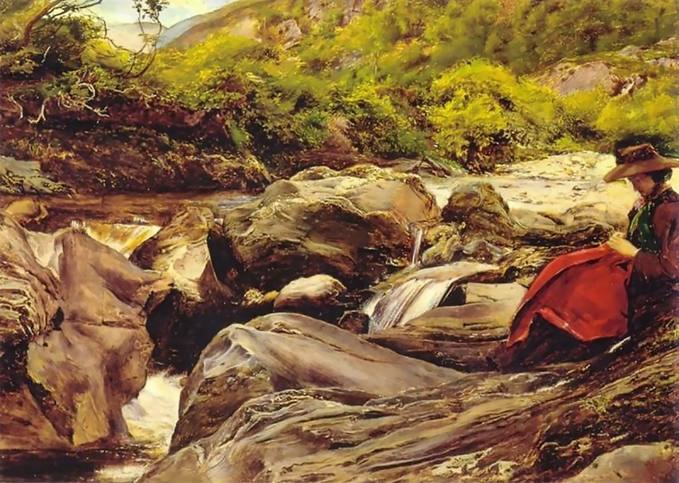 John Everett Millais, A Waterfall in Glenfinlas, 1853.