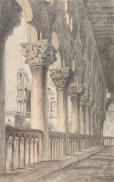 Loggia of the Ducal Palace, Venice. Watercolour and pencil, 1849, John Ruskin.