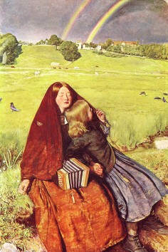 The 'Blind Girl', by John Everett Millais, 1856.