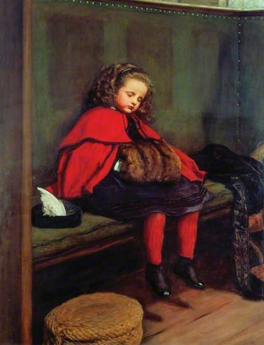 'My second sermon', 1864, painted by J.E.Millais.