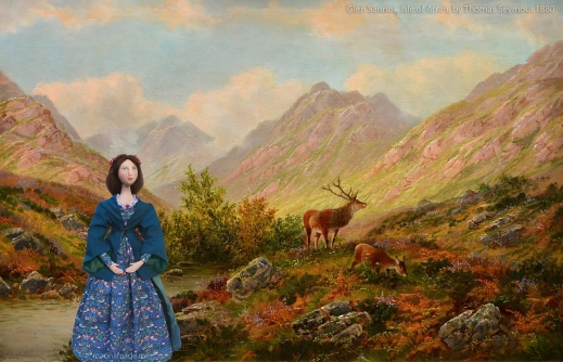 Effie at 'Glen Sannox, Isle of Arran, 'by Thomas Seymour.