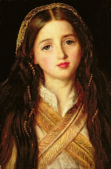 Alice Gray by by John Everett Millais, 1857.