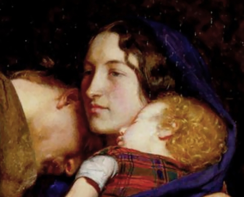 Detail of Effie in 'Order of Release' by Millais.