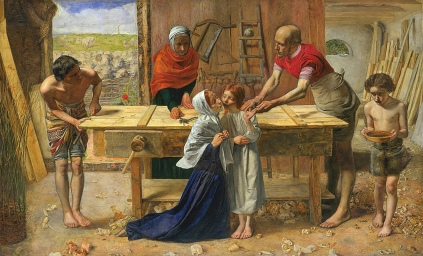 Christ in the House of His Parents,`The Carpenter's Shop', byJohn Everett Millais, 1849.