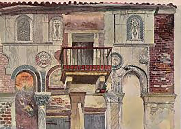 Ruskin, watercolour of the Fondaco dei Turchi