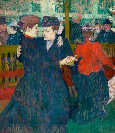 Deux femmes dansant au Moulin-Rouge, 1892, Henri de Toulouse-Lautrec.