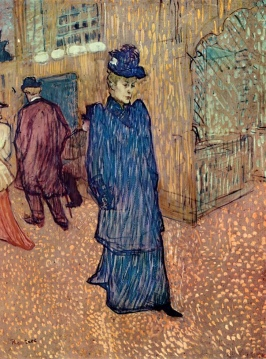Jane Avril Leaving the Moulin Rouge, 1892, Henri de Toulouse-Lautrec.