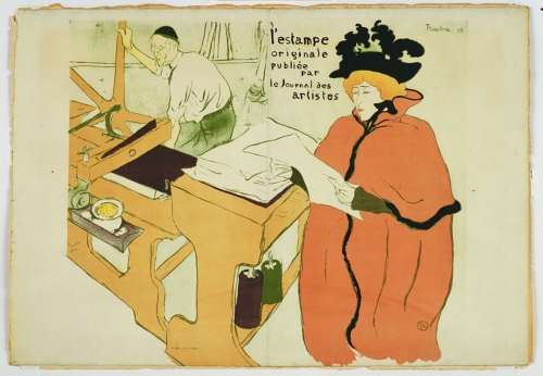 Jane on the cover of L'Estampe originale 1893, Henri de Toulouse-Lautrec.
