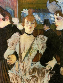 La Goulue Entering the Moulin Rouge, 1891-2, Henri de Toulouse-Lautrec.