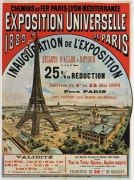 Poster for the 'Exposition Universelle de Paris ' 1889.