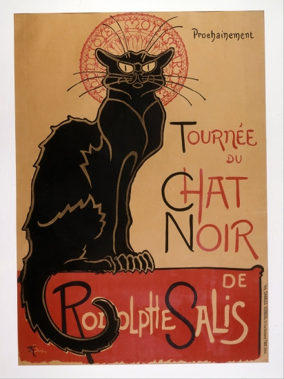1896 poster advertising 'Le Chat Noir', by Théophile Alexandre Steinlen.