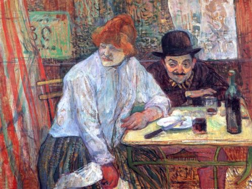 At the Cafe La Mie, Henri de Toulouse Lautrec, 1891.