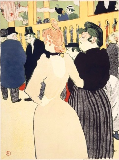 At the Moulin Rouge, La Goulue and her Sister, Lithograph. 1892 by Henri de Toulouse-Lautrec.