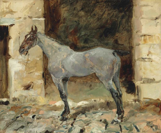 Cheval attaché, an early work by Toulouse-Lautrec, 1881.
