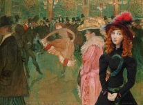 Muse of Jane Avril at the 'Dance At The Moulin Rouge', by Henri de Toulouse-Lautrec.