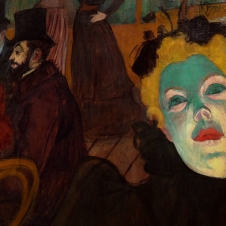 Detail of May Milton at Moulin Rouge 1892-5, by Henri de Toulouse-Lautrec.