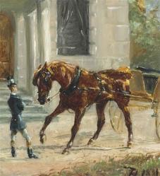 Equipage au Bosc, 1881, by Henri de Toulouse-Lautrec.