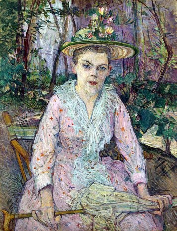 Femme à l'ombrelle, (woman with an umbrella) 1889, Toulouse-Lautrec, 1889.