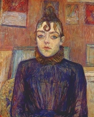 Girl with Love lock, 1889, painting by Toulouse Lautrec.