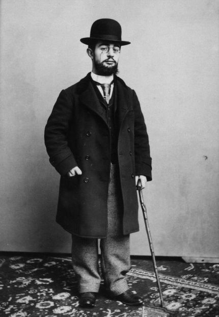 Photograph of Henri de Toulouse-Lautrec.