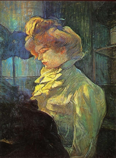La Modiste, The Milliner, by Henri de Toulouse-Lautrec 1900.