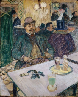 Monsieur Boileau at the cafe, 1893 By Toulouse-Lautrec.