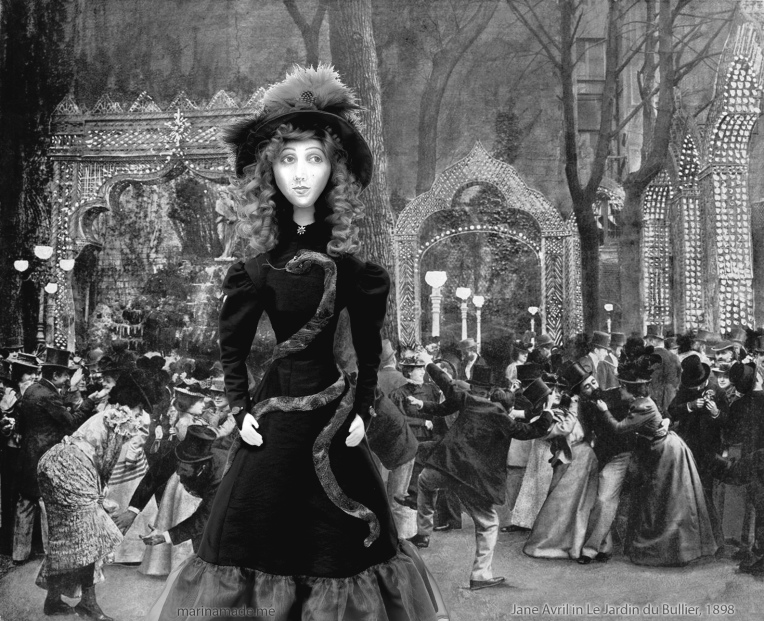 Jane muse at Le Jardin du Bal Bullier, 1898.
