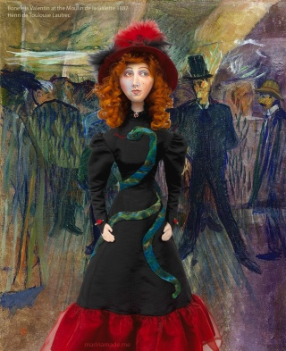 Muse of Jane Avril with 'Boneless Valentin at the Moulin de la Galette', 1887, painting by Henri de Toulouse-Lautrec.