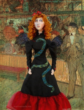 Jane Avril muse At the Moulin Rouge 1892, painting by Henri de Toulouse-Lautrec.